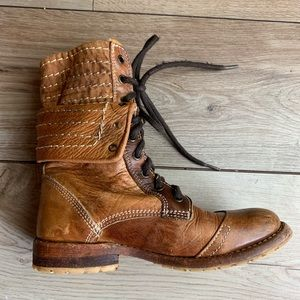 BED | STU |   Brown Leather Booties | Size 6